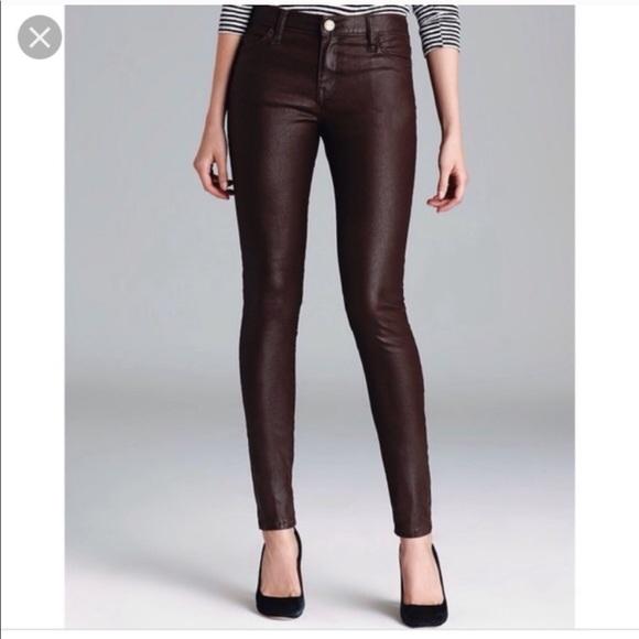 Current/Elliott Denim - Current Elliot Coated Purple Skinny Jeans 26